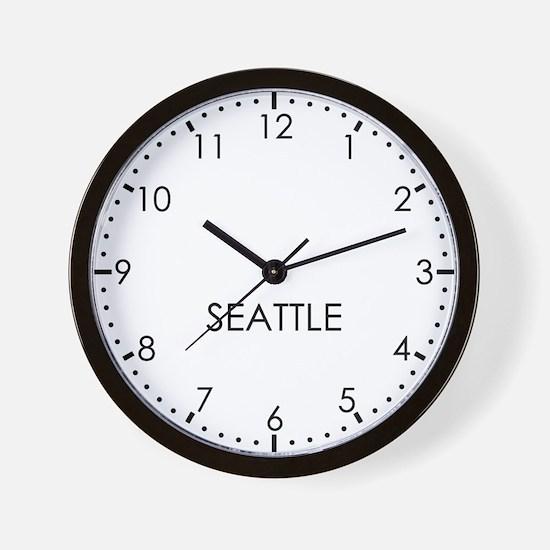 SEATTLE Modern Newsroom Wall Clock