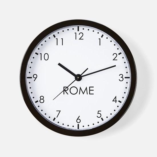 ROME Modern Newsroom Wall Clock