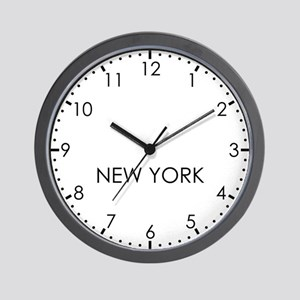 NEW YORK Modern Newsroom Wall Clock