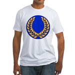 Blue with gold laurel Fitted T-Shirt