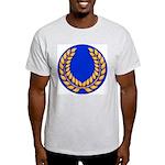 Blue with gold laurel Ash Grey T-Shirt
