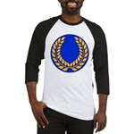 Blue with gold laurel Baseball Jersey