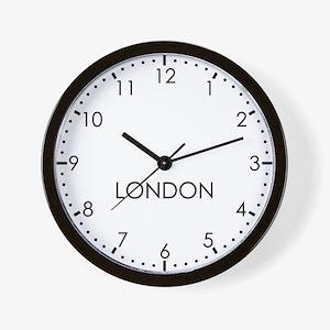 LONDON Modern Newsroom Wall Clock