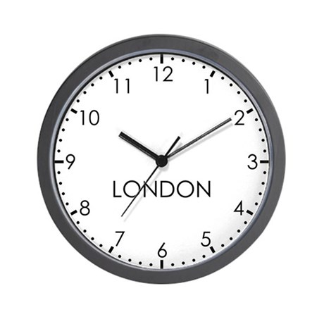 LONDON Modern Newsroom Wall Clock
