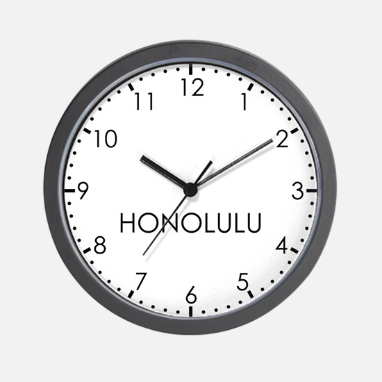 HONOLULU Modern Newsroom Wall Clock