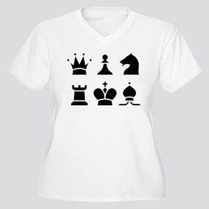 Chess Women's V-Neck Plus Size T-Shirt