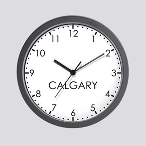 CALGARY Modern Newsroom Wall Clock