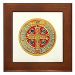 Framed Tile - Medal of St. Benedict