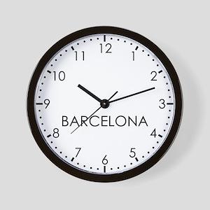 BARCELONA Modern Newsroom Wall Clock