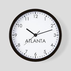 ATLANTA Modern Newsroom Wall Clock