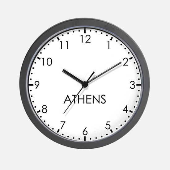 ATHENS Modern Newsroom Wall Clock