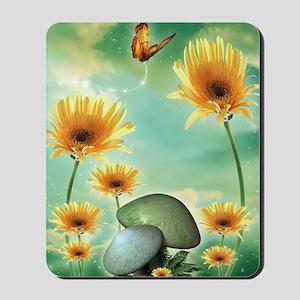 Daisies and Chanterelles Mousepad