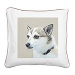 Norwegian Lundehund Square Canvas Pillow