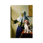 Woman w/Pitcher - Beagle Rectangle Magnet
