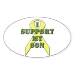 I Support My Son Oval Sticker (10 pk)