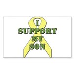 I Support My Son Rectangle Sticker 10 pk)