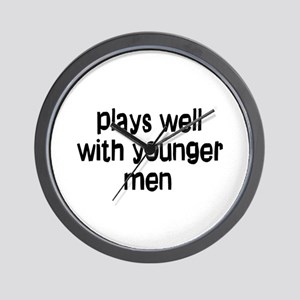 younger men Wall Clock