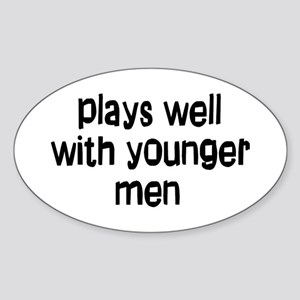 younger men Sticker (Oval)