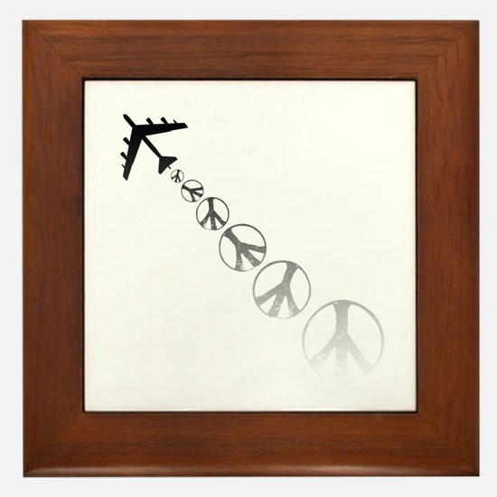Make Peace Not War Theme Framed Tile