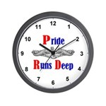 Pride Runs Deep Wall Clock