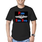 Pride Runs Deep Men's Fitted T-Shirt (dark)