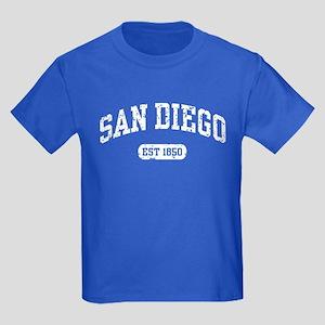 San Diego Est 1850 Kids Dark T-Shirt