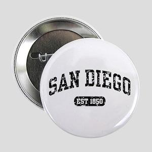 """San Diego Est 1850 2.25"""" Button"""
