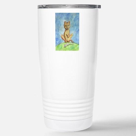 Zombie Cat Stainless Steel Travel Mug