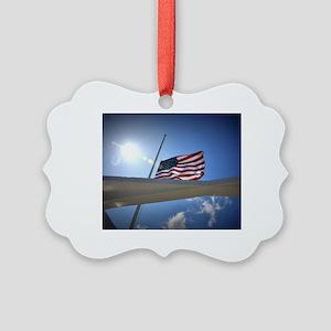 Pear Harbor Memorial Picture Ornament