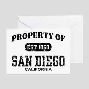 Property of San Diego Greeting Cards (Pk of 10)