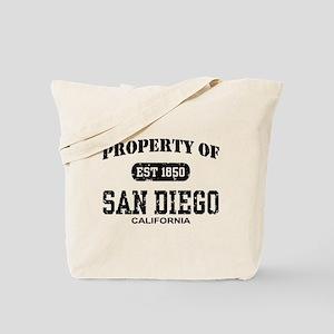 Property of San Diego Tote Bag