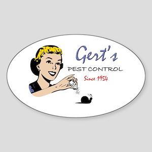 Gert's Pest Control Oval Sticker