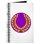 Purple with gold laurel Journal