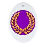 Purple with gold laurel Oval Ornament