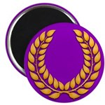 Purple with gold laurel 2.25