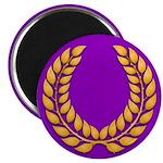 Purple with gold laurel Magnet