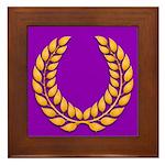 Purple with gold laurel Framed Tile