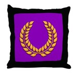 Purple with gold laurel Throw Pillow