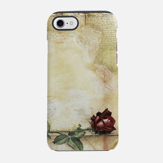 Da Vinci Letter Rose iPhone 7 Tough Case