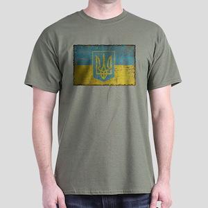 Vintage Ukraine Dark T-Shirt