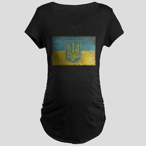 Vintage Ukraine Maternity Dark T-Shirt