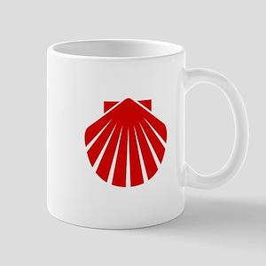 Red Scallop Mug