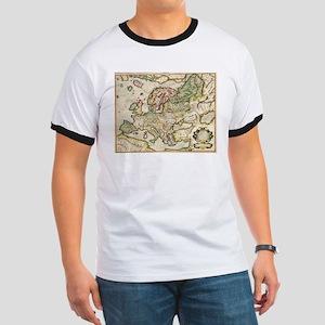 Vintage Map of Europe (1596) T-Shirt