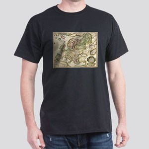 Vintage Map of Europe (1596) T-Shirt