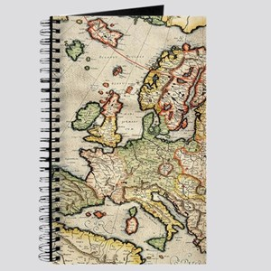 Vintage Map of Europe (1596) Journal