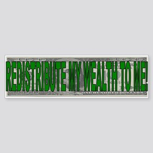 Redistribution of wealth (sticker)