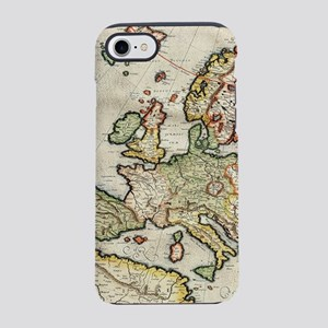 Vintage Map of Europe (1596) iPhone 7 Tough Case