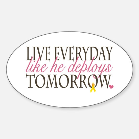 Live Everyday... Oval Decal