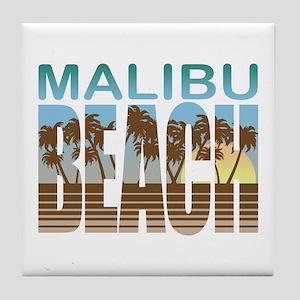 Malibu Beach Tile Coaster