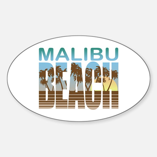 Malibu Beach Oval Decal